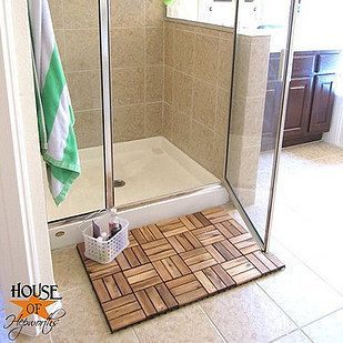Use Deck Tiles To Make A Bath Mat Or To Line The Floor Of Your
