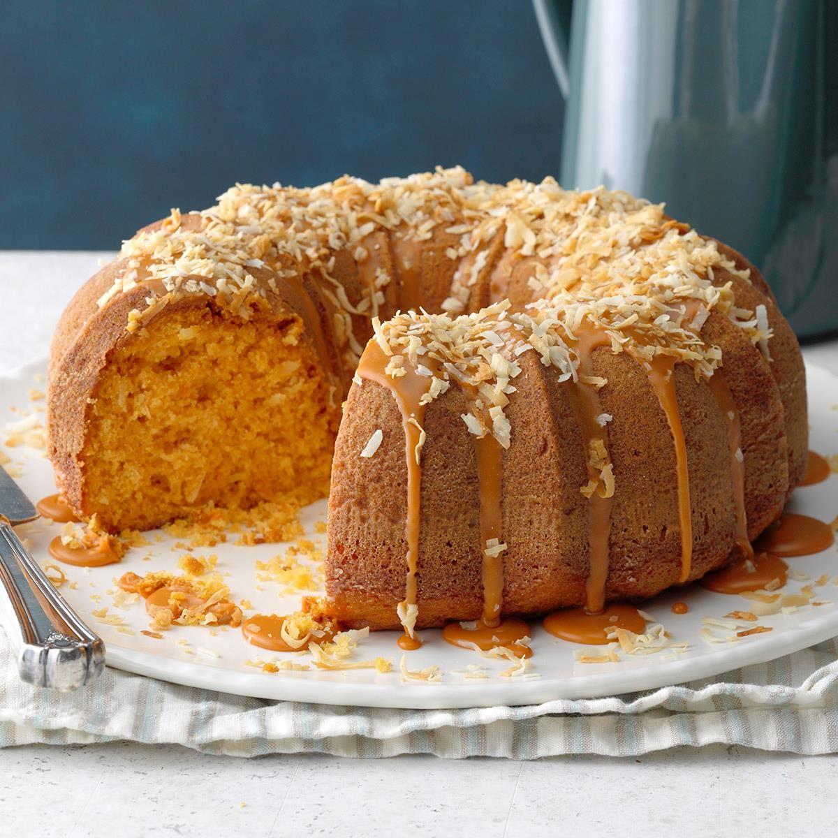 Double Butterscotch Coconut Cake Recipe In 2020 Butterscotch