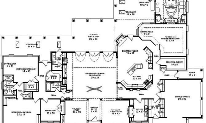 2 Storey 5 Bedroom House Plans 3d Awesome Single Story 5 ...