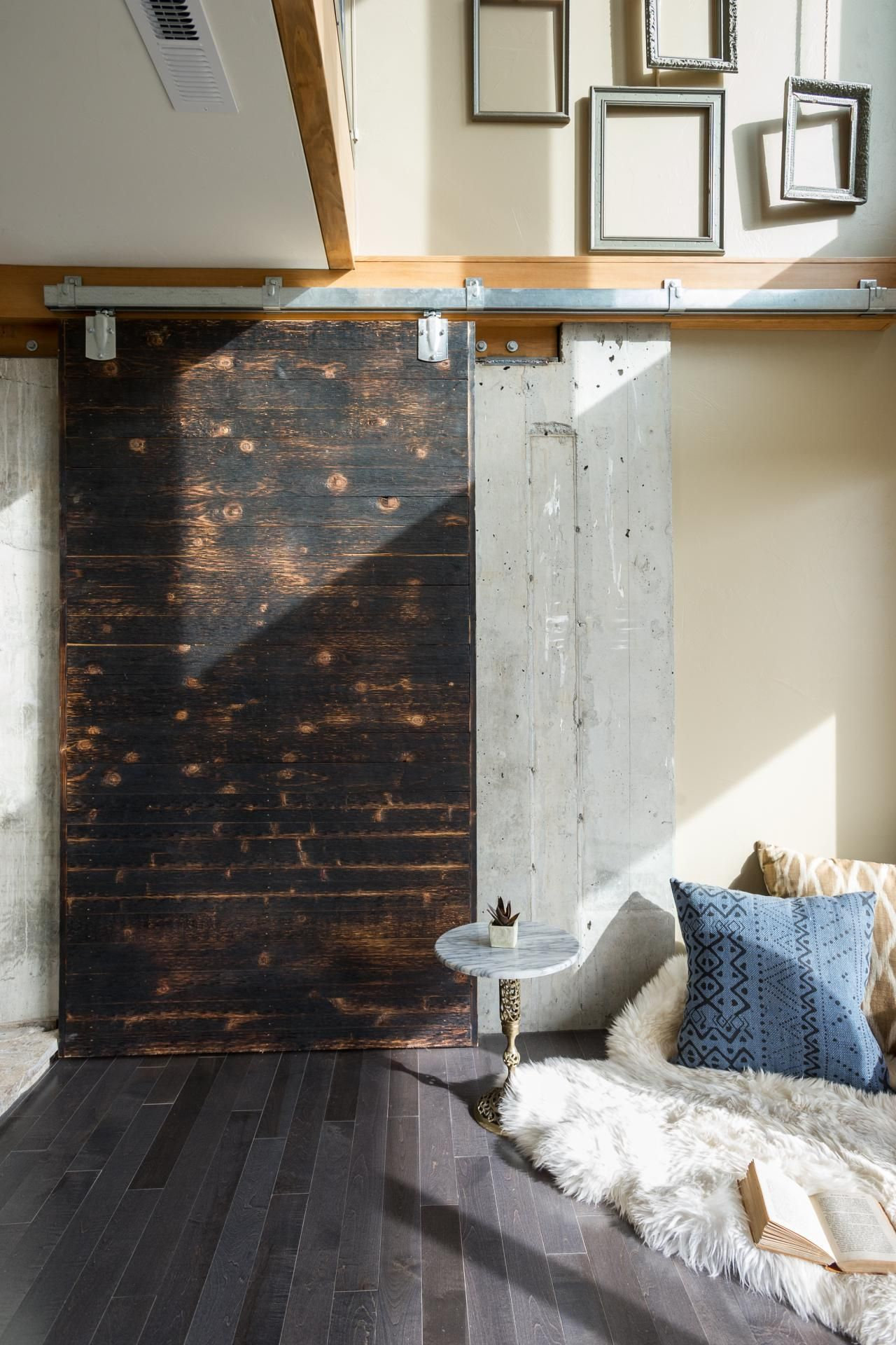 Family room pictures from diy network blog cabin barn doors