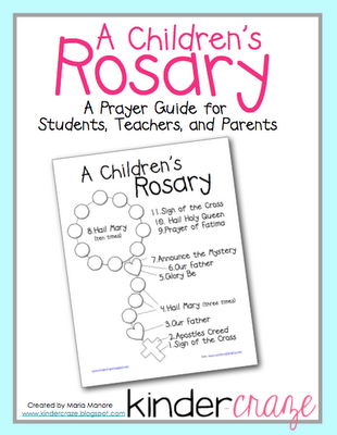 picture relating to How to Pray the Rosary for Kids Printable titled Pinterest