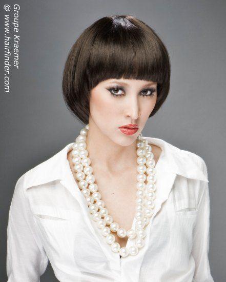 Mireille Mathieu hairstyle bowl