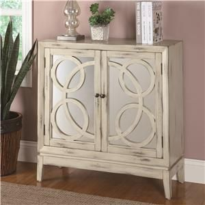 Accent Cabinets Mirrored Front Cabinet