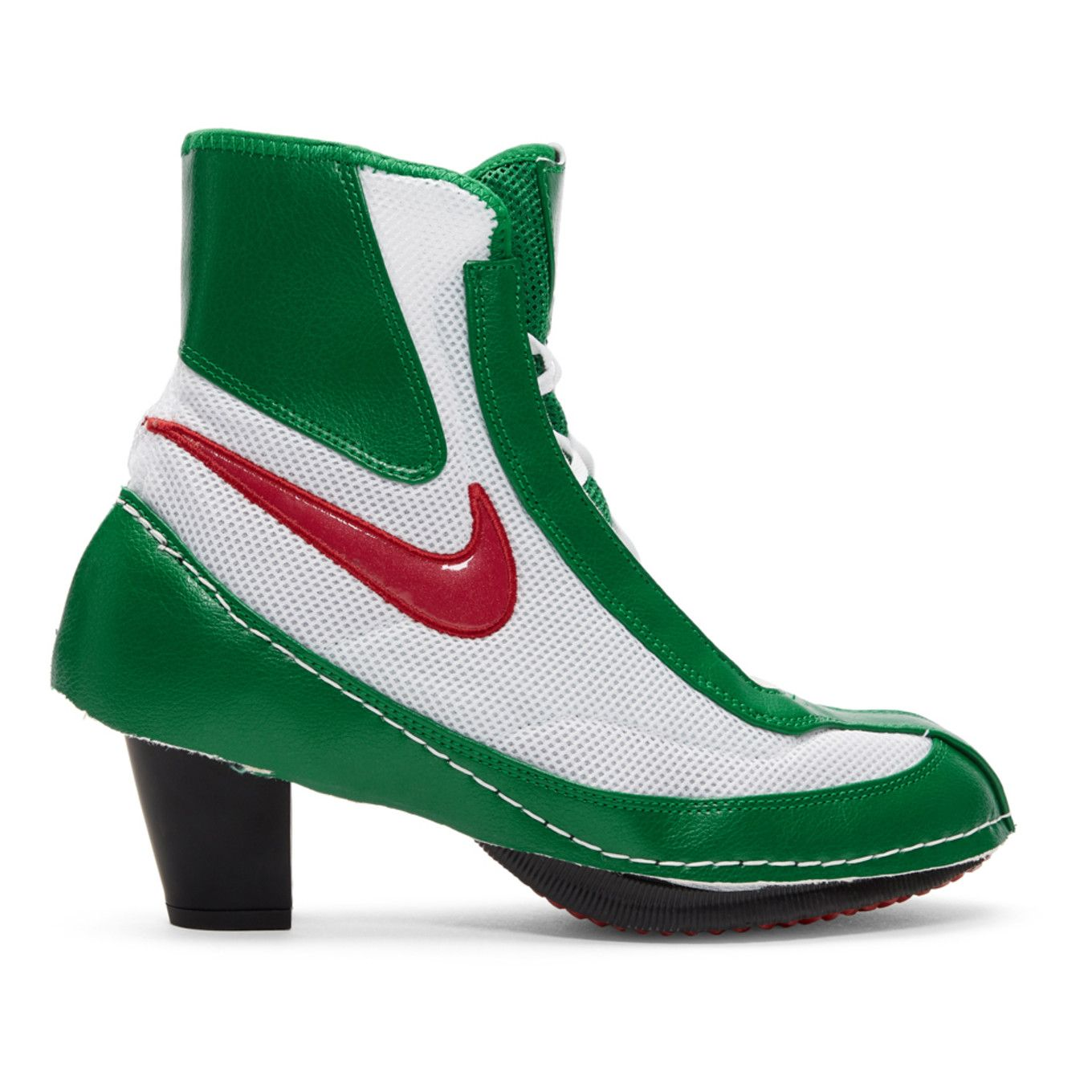 White Nike Edition Heeled Boxing Boots