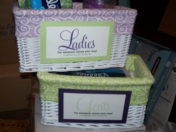 Bathroom Baskets For Wedding Receptions Show Me Your