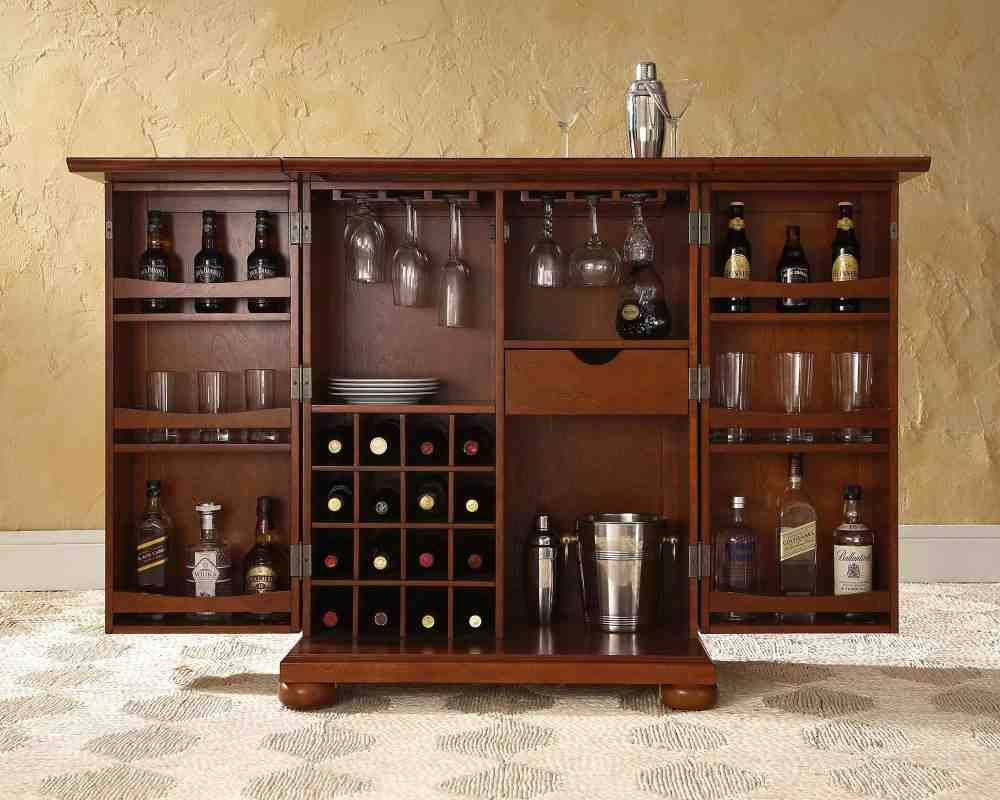 Locked Liquor Cabinet Furniture