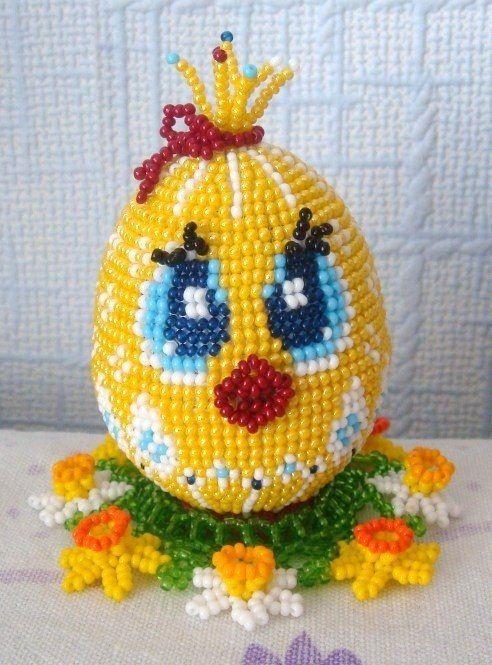 вязание бисером яйцо
