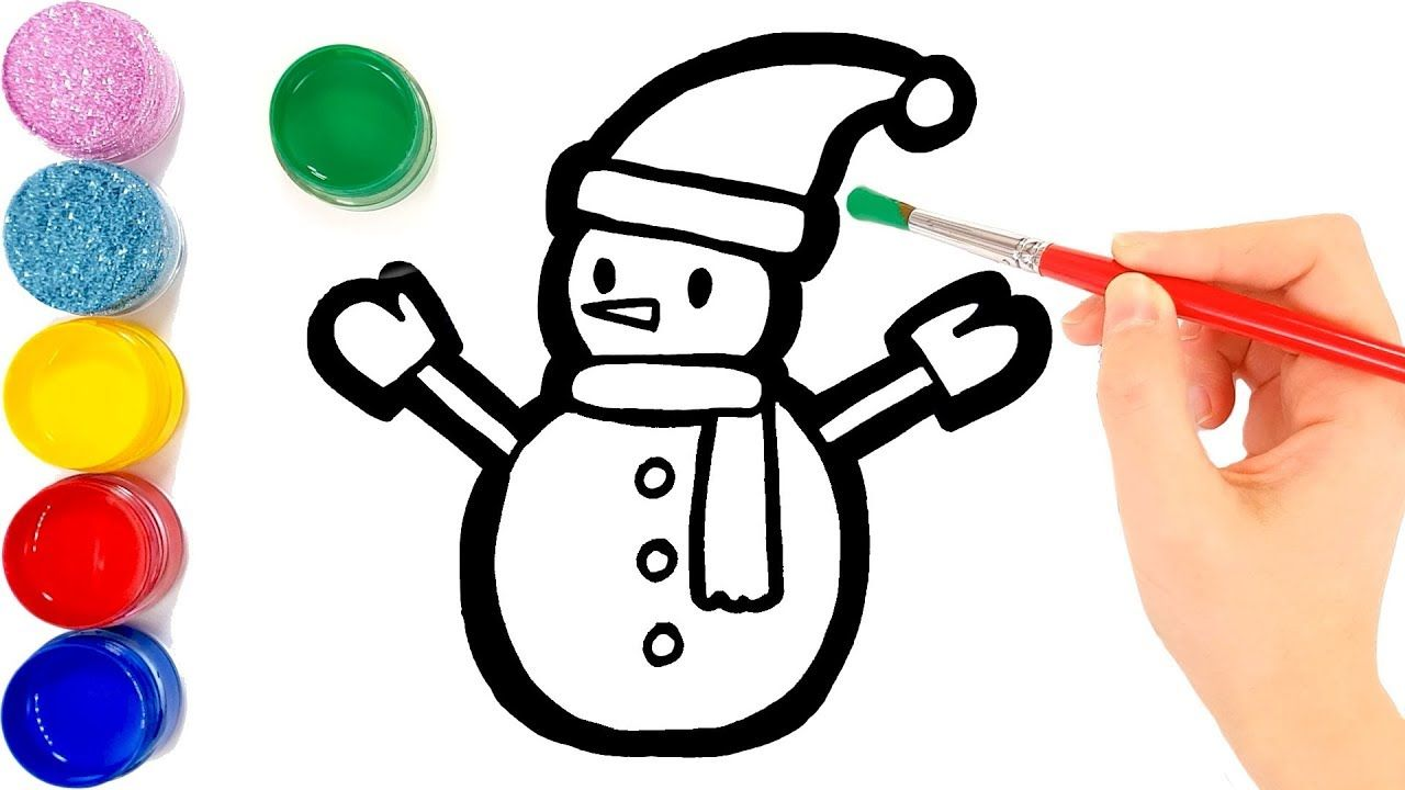 Snowman Coloring And Drawing For Kids Toddlers Jolly Toy Art Drawing For Kids Art Toy Art For Kids