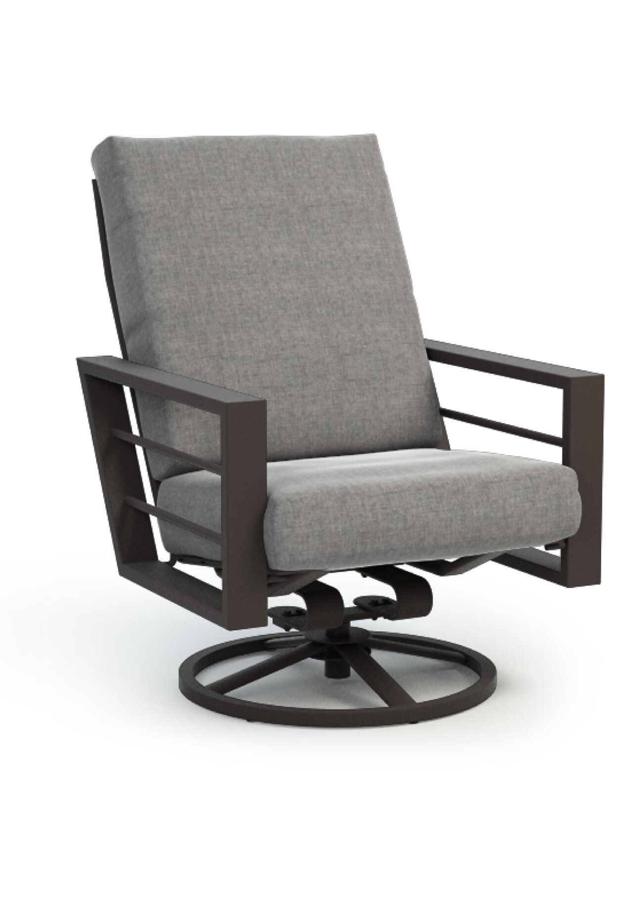 Brayden Studio Niles High Back Rocker Chat Swivel Patio Chair With Sunbrella Cushions In 2021 Outdoor Swivel Chair Patio Chairs Swivel Rocker Chair High back swivel rocker patio chairs