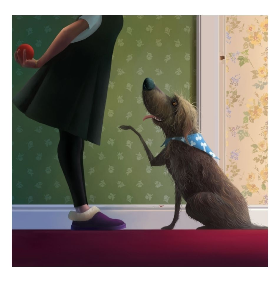 Ball Game by Stephen Hanson FREE UK DELIVERY Dog