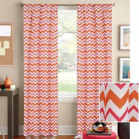 Better Homes and Gardens Chevron Curtain Panel, Orange | Pinterest ...