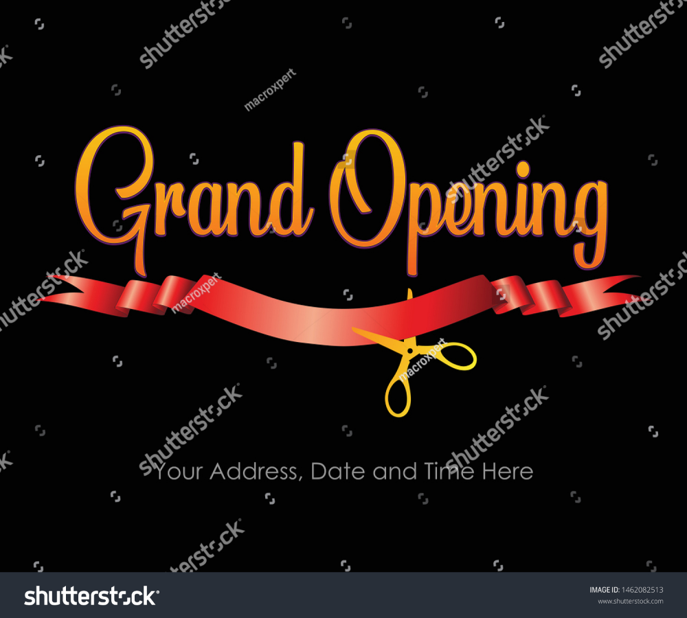 Grand Opening Vector Banner Store Front Stock Vector Royalty Free 1462082513 Grand Opening Banner Store Banner