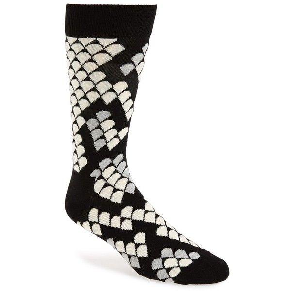 Men's Happy Socks Snake Print Crew Socks (€11) ❤ liked on Polyvore featuring men's fashion, men's clothing, men's socks, mens socks and mens crew socks