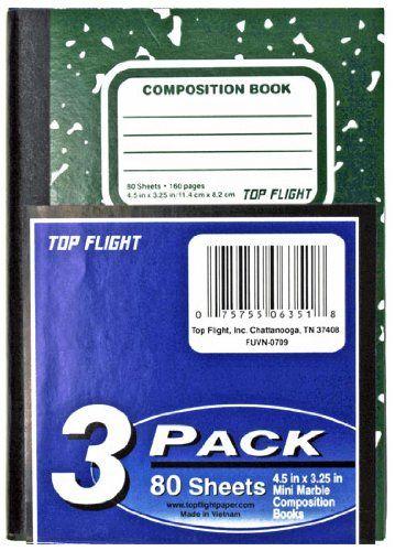 Top Flight Glued Mini-Marble Composition Book, Narrow Rule ...