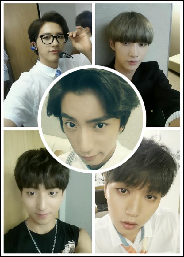 Gongchan's Twitter Update [140717]: 컴백기념 #b1a4 셀카 대방출!오늘은 내가 주인공~~ #soloday 내일도 콜???