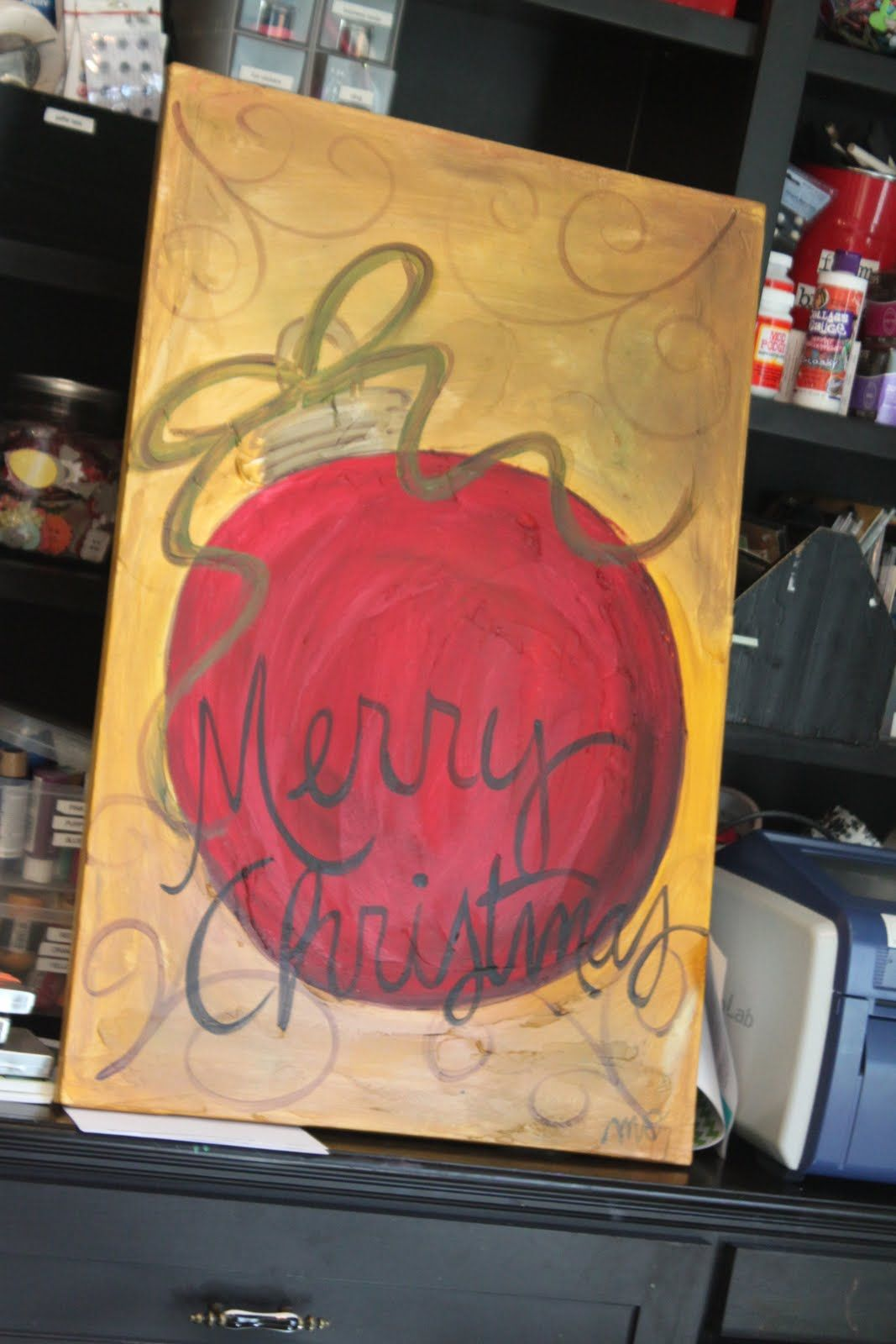 Red Customizable Ornament Rose N Vine Paint Party Canvas Painting Idea No Copyright Infringement Intended