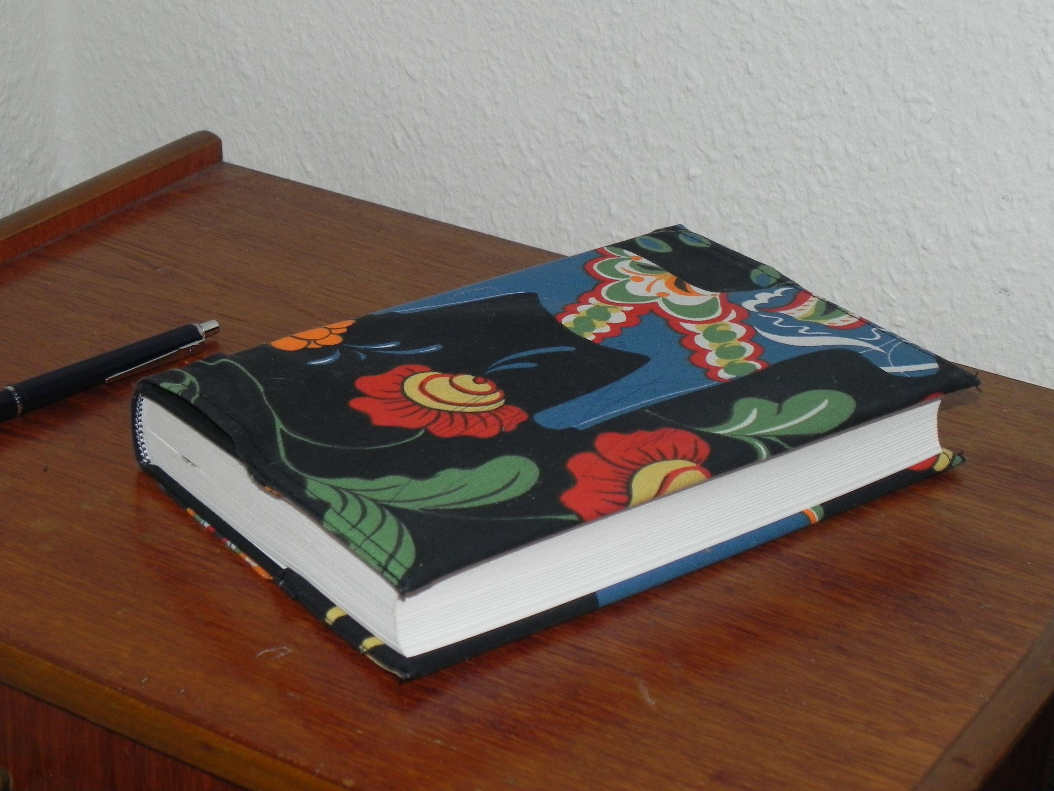 Dagboksomslag i tyg. DIY