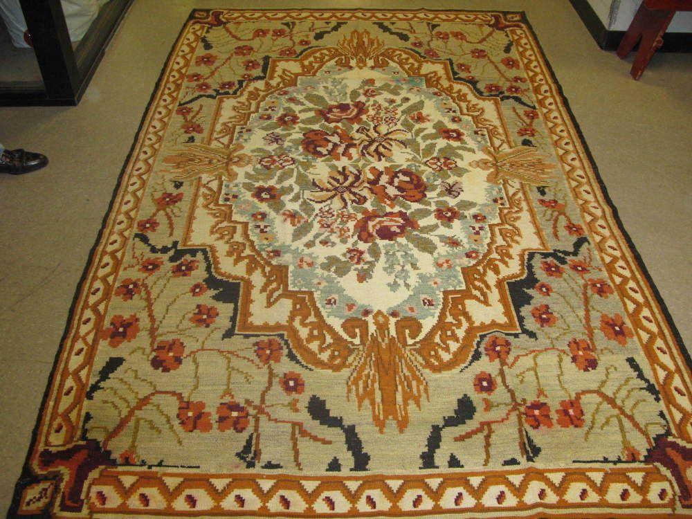 Antique Fine Bessarabian Moldova Kilim Rug Hand Woven Wool 5 10x9 7 European Rugs Kilim Rugs Hand Weaving