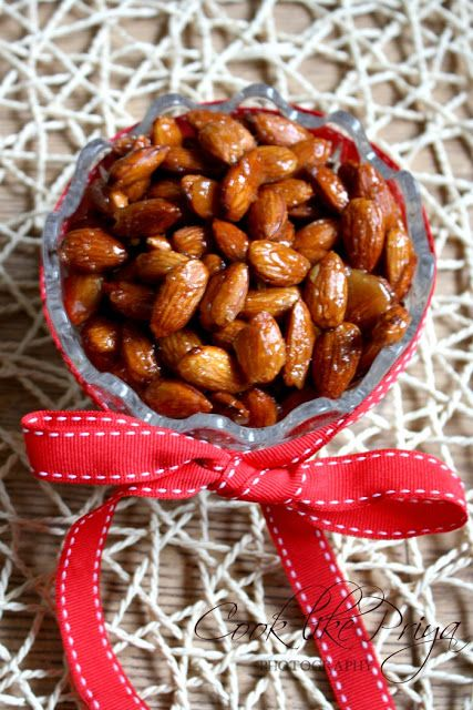 Candied Almonds | Roasted Almond Snack Recipe | Christmas Treats | Party Snack
