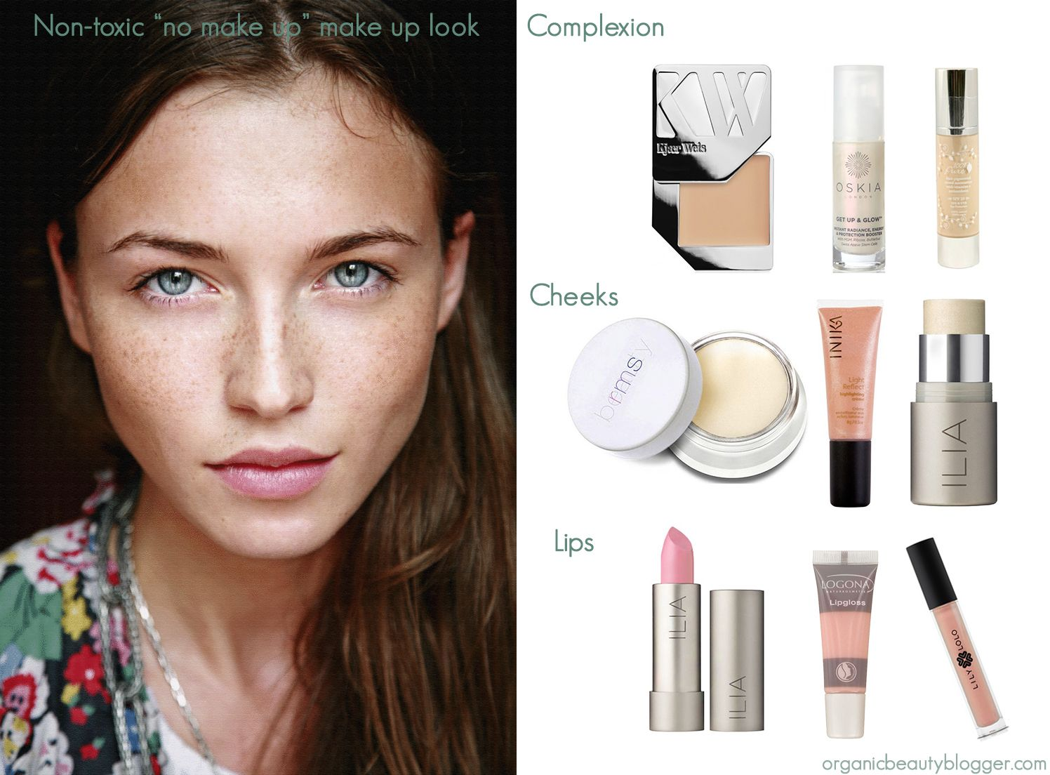 "Non Toxic ""No Make Up"" Make Up Look Organic Beauty"