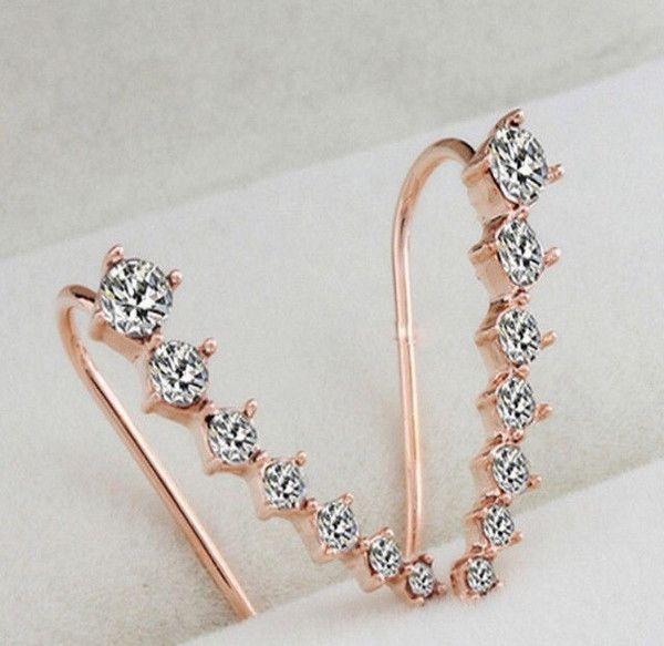Gold Seven Star Crystal Rhinestone Anklets