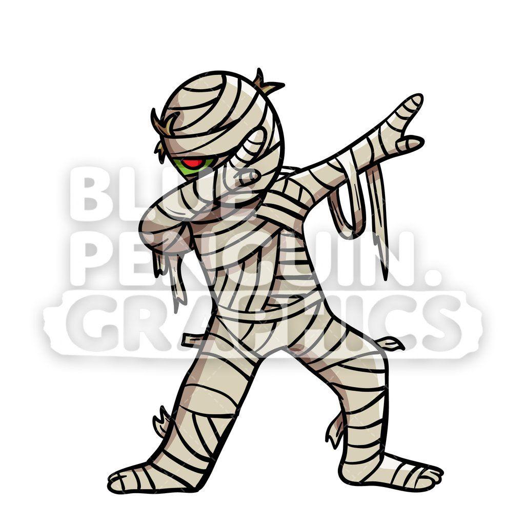 Dabbing Egyptian Mummy Vector Cartoon Clipart Illustration Cartoon Clip Art Egyptian Mummies Zombie Illustration