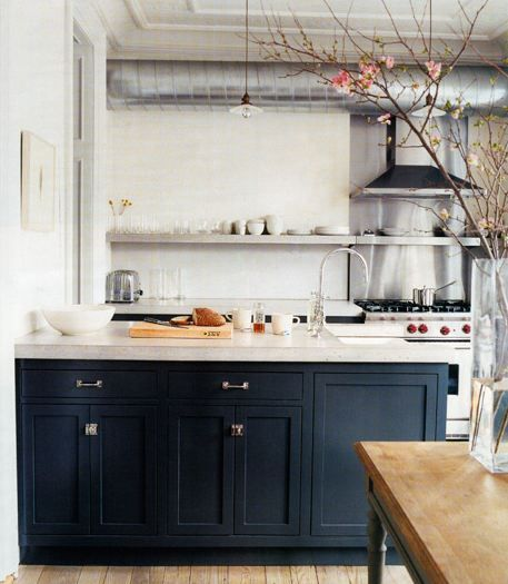 High Resolution Navy Blue Kitchen Cabinets