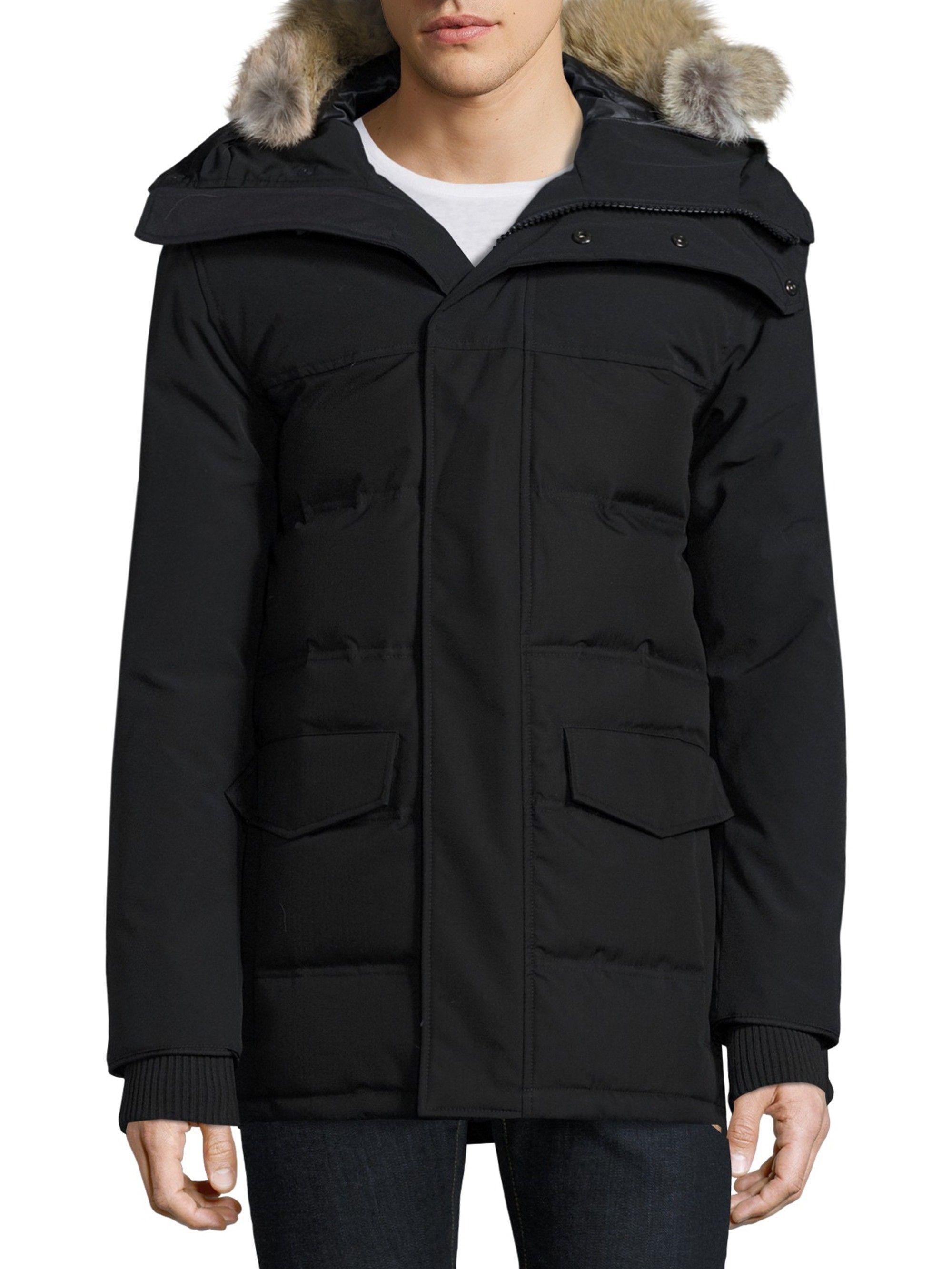 canada goose fur coat