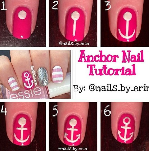 How To Do An Anchor On You Nail Gonna Have To Try It Nails