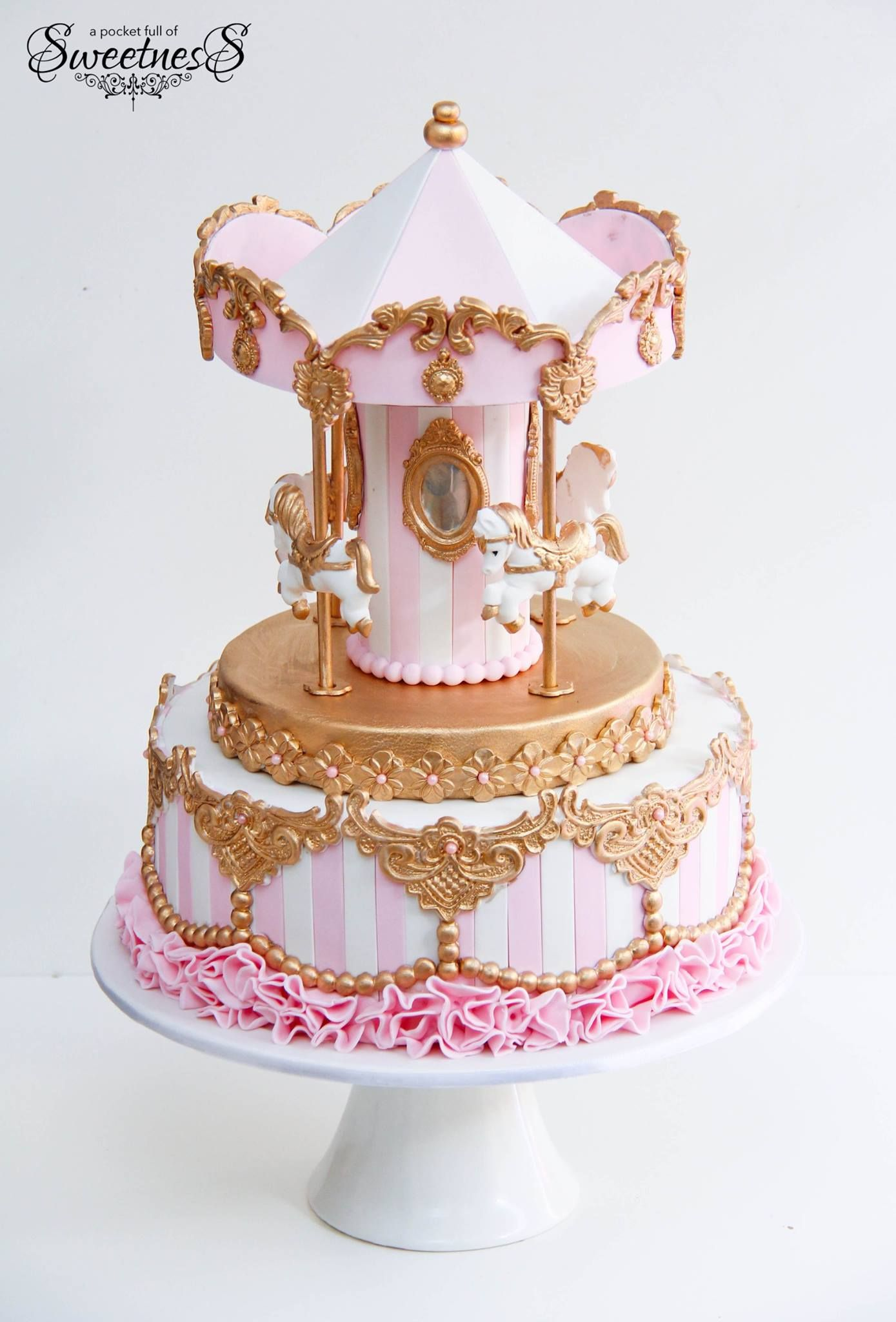 A pocket full of sweetness with images carousel cake