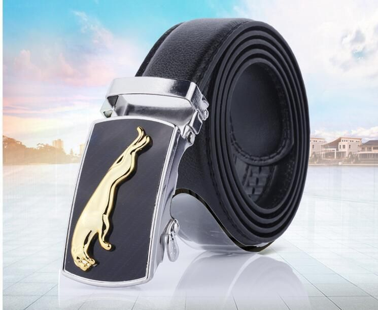 Men/'s Casual Waistband Leather Automatic Buckle Belt Waist Strap Belts Fashion