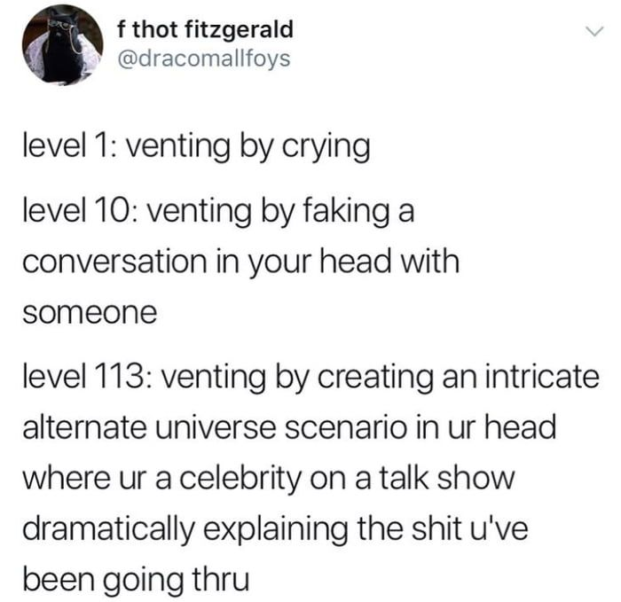 The levels of venting