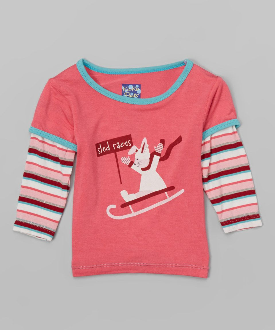 This Rose 'Sled Races' Layered Tee - Infant, Toddler & Girls by KicKee Pants is perfect! #zulilyfinds