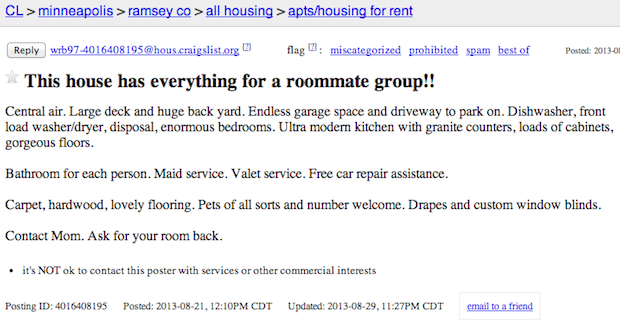 Cool Roommate Wanted Unbelievable Roommate Ads From Craigslist Roommate Wanted Roommate Renting A House