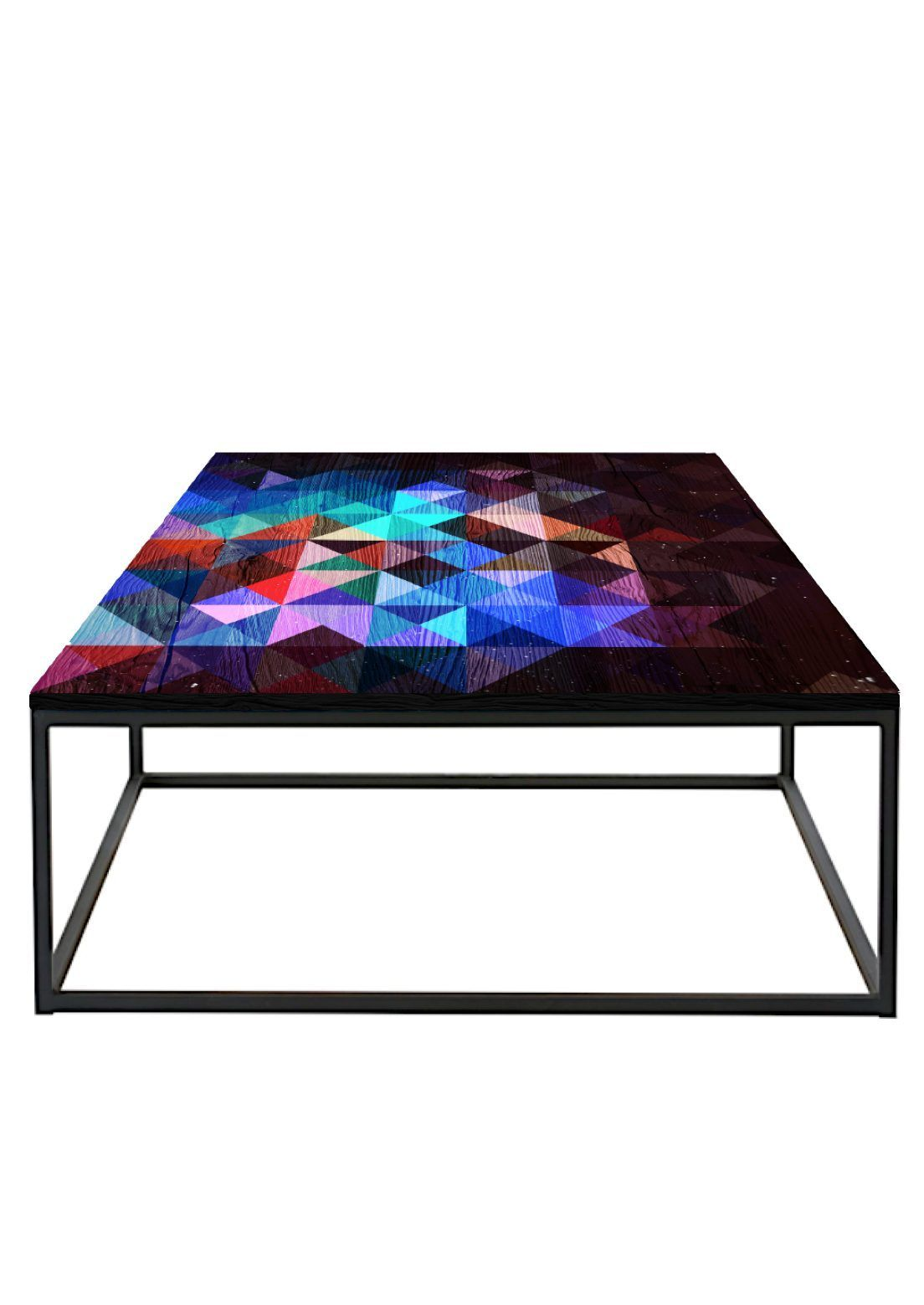 Geometric Metal Frame Coffee Table Coffee Table Metal Frame