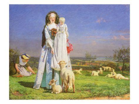 Pretty Baa Lambs 1851 Pre Raphaelite Paintings Pre Raphaelite Art Brown Art