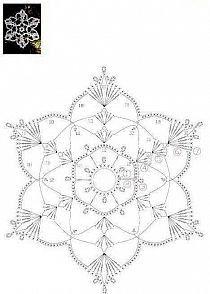 Estrela de Natal feita em crochet