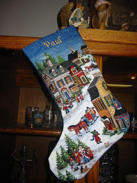 Dimensions Christmas Stocking Kits.My Husband S Christmas Stocking Dimensions Village Scene