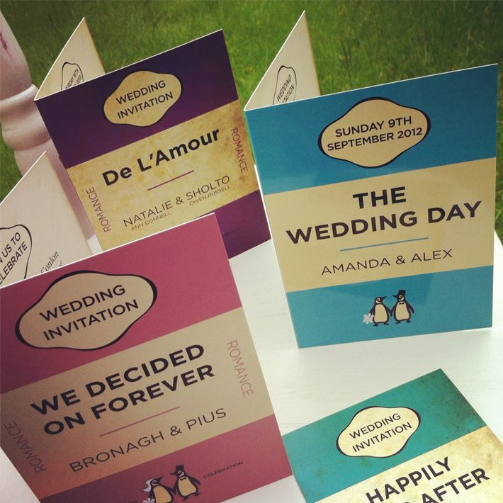 Books Themed Wedding Invitations, Book Cover Wedding Invitations And Retro  Book Cover Wedding Invitations Are Great Themes For Book Lover Wedding ...