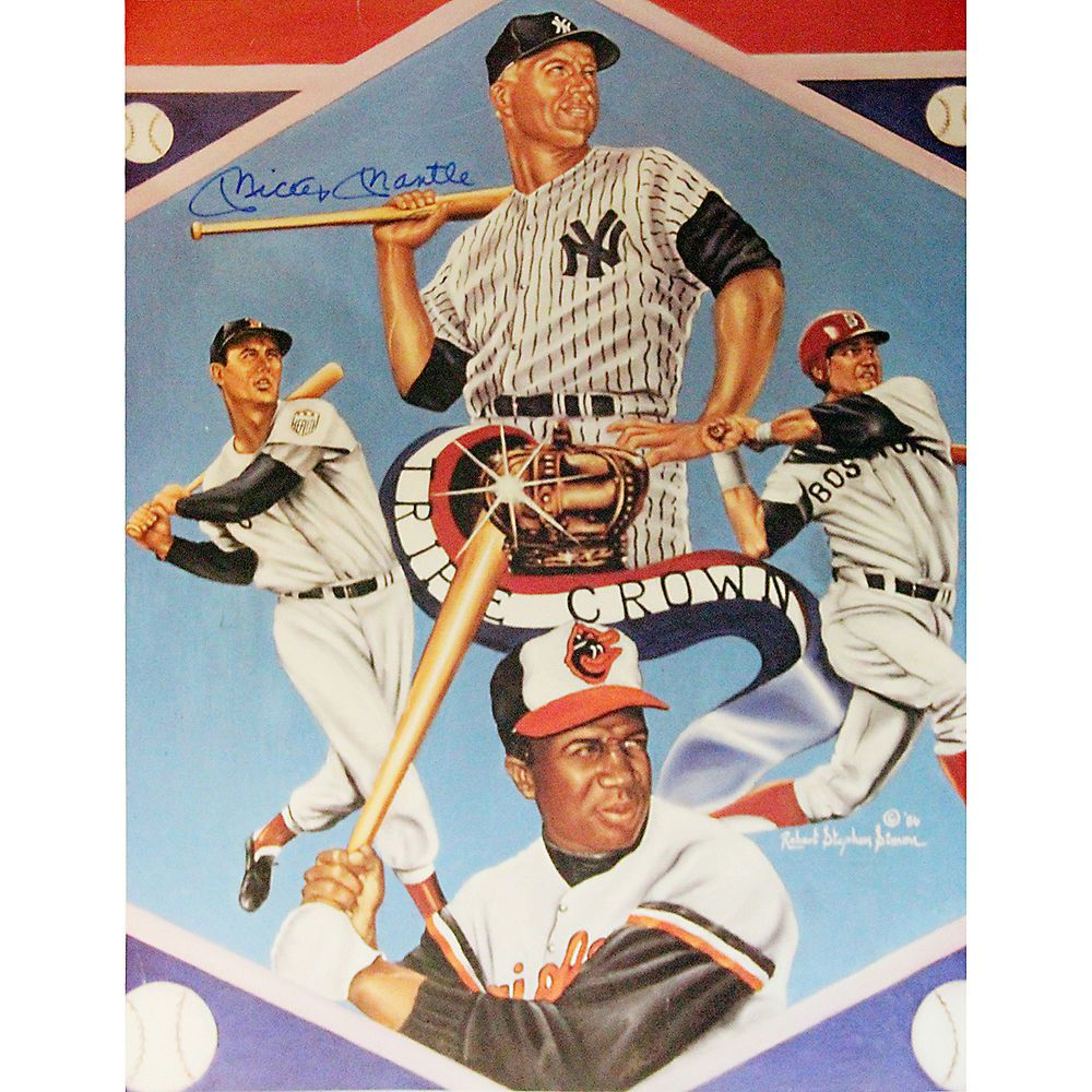 Mickey Mantle Ted Williams Carl Yastrzemski Frank Robinson Triple