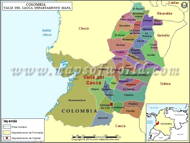Valle colombia cauca de buenaventura plano del Buenaventura, Valle