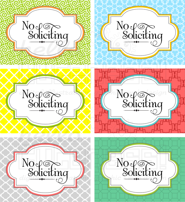 It is a photo of Sly Free Printable No Soliciting Sign