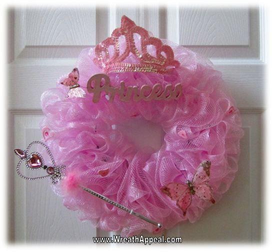Baptism Gift Girl Christmas Ornament For Baby Girl Baptism: Welcome Baby Mesh Deco Wreaths