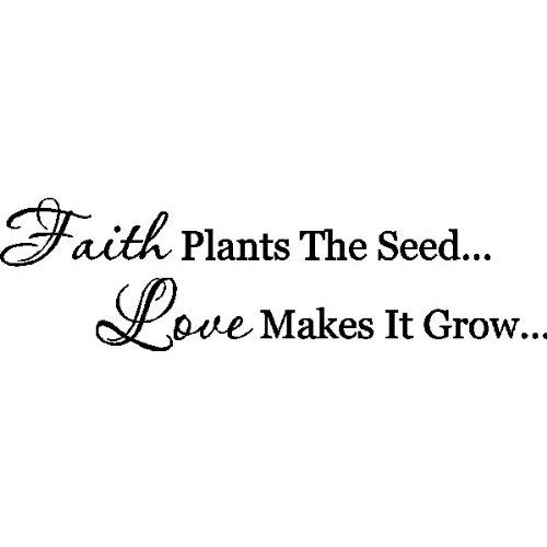 Faith Plants The Seed.....Faith Wall Decal Removable Home Wall Sticker Lettering