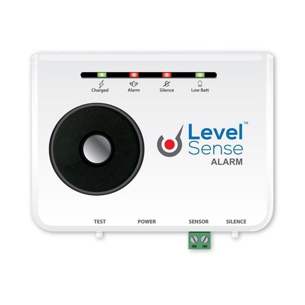 Level sense 15 ft float sump pump failure alarm with self