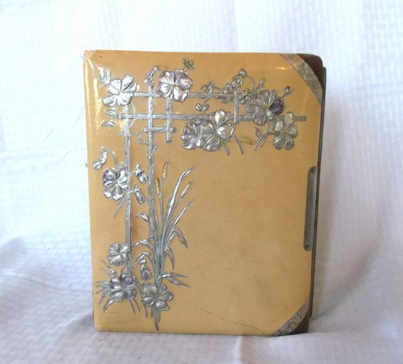 Victorian Celluloid Photo Album With Pictures by MyVintageHatShop, $45.00