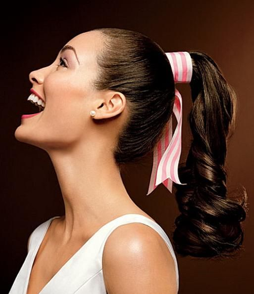 50s Hairstyles For Long Hair Ponytail