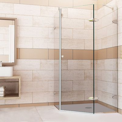 Features Frameless Glass Design Glass Supports Adjust To