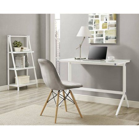 48 inch Glass Desk and Shelf Combo, Multiple Colors, White Products