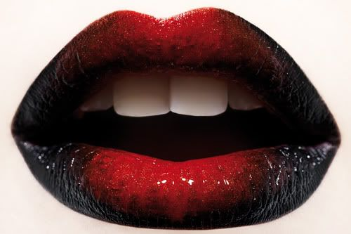 Trend Red Black Lipstick Halloween Ombre Lips Black Lipstick